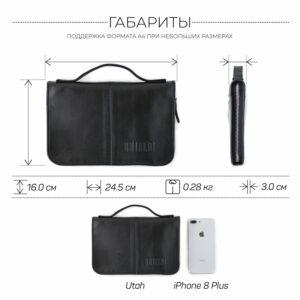 Удобный черный мужской портмоне клатч BRL-920 227516