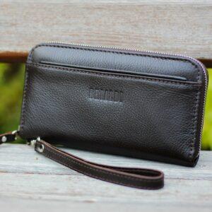 Кожаный коричневый мужской портмоне клатч BRL-28537 228571