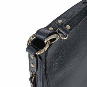 Солидная синяя женская сумка через плечо BRL-47551