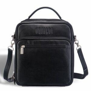 Удобная черная мужская сумка через плечо BRL-12935 227903
