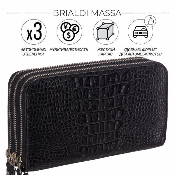 Стильный черный мужской портмоне клатч BRL-23063