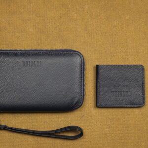 Уникальный синий мужской портмоне клатч BRL-23098 228319