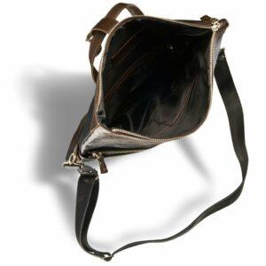 Вместительная черная мужская сумка трансформер через плечо BRL-3516 227665