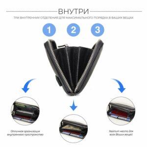 Стильный черный мужской портмоне клатч BRL-43905 229131
