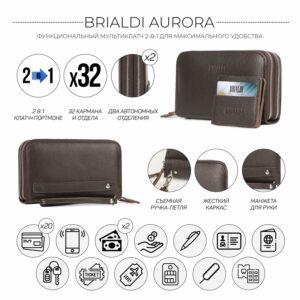 Неповторимый коричневый мужской портмоне клатч BRL-44371 229162