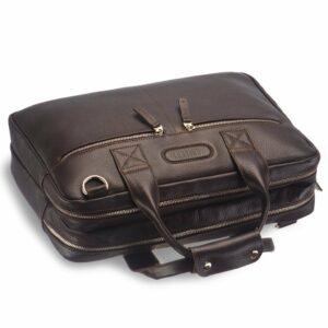 Кожаный коричневый мужской кейс для командировок BRL-12973 227938