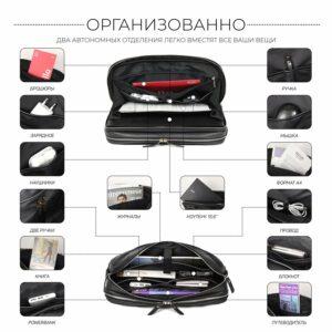 Кожаный черный мужской портфель деловой BRL-44548 227272
