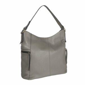 Функциональная серая женская сумка через плечо BRL-47451