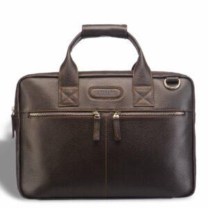 Кожаный коричневый мужской кейс для командировок BRL-12973 227935