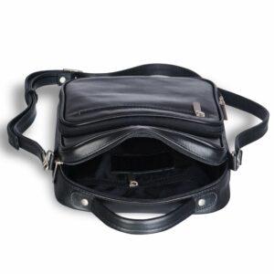 Удобная черная мужская сумка через плечо BRL-12935 227907