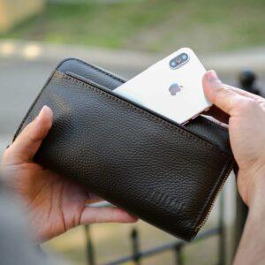 Кожаный коричневый мужской портмоне клатч BRL-32926 228787