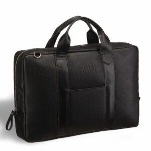 Солидная черная мужская классическая сумка BRL-9527