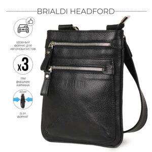 Модная черная мужская сумка через плечо BRL-34404