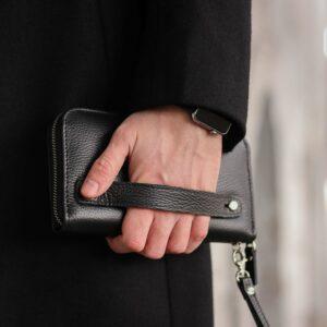 Стильный черный мужской портмоне клатч BRL-43905 229132