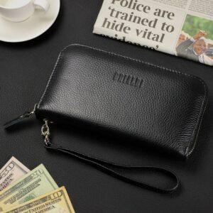 Стильный черный мужской портмоне клатч BRL-43905 229134