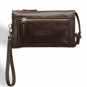 Неповторимый коричневый мужской портмоне клатч BRL-8403 229292