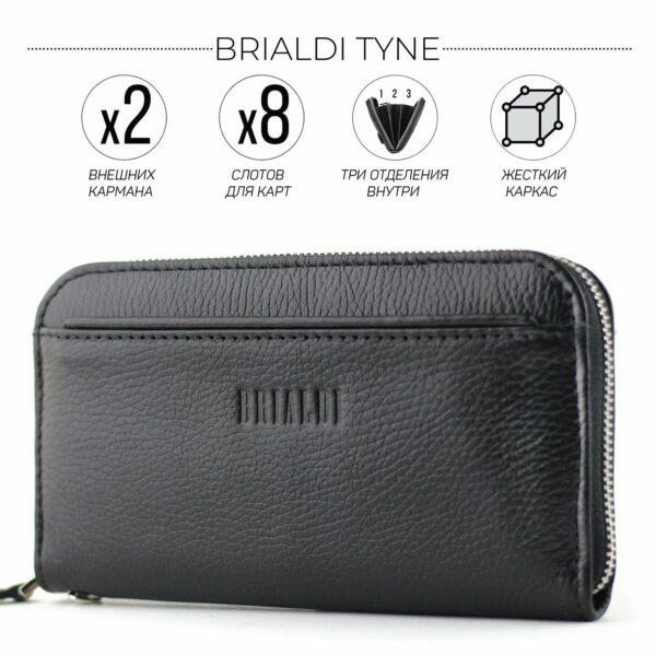 Неповторимый черный мужской портмоне клатч BRL-28616