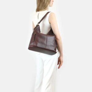 Деловая бордовая женская сумка через плечо BRL-47450 229794