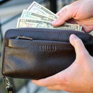 Стильный коричневый мужской портмоне клатч BRL-32922 228772