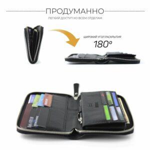 Стильный черный мужской портмоне клатч BRL-26754