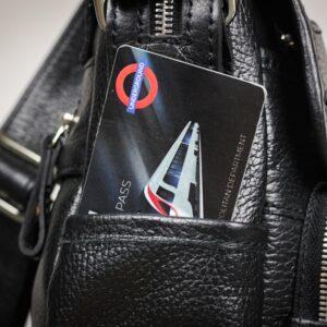Стильная черная мужская сумка через плечо BRL-12995 227166