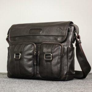 Удобная коричневая мужская сумка через плечо BRL-12996 227209