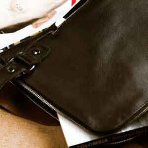 Деловая черная мужская сумка мессенджер BRL-1039 227564