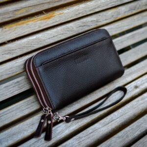 Кожаный коричневый мужской портмоне клатч BRL-32920 228762