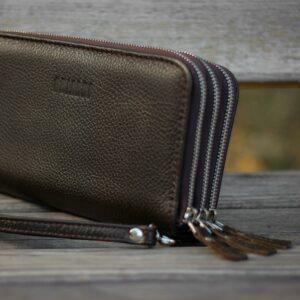 Удобный коричневый мужской портмоне клатч BRL-23059 228257