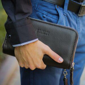 Удобный коричневый мужской портмоне клатч BRL-23059 228240