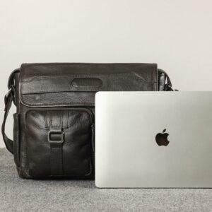 Удобная коричневая мужская сумка через плечо BRL-12996 227205