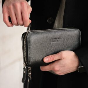 Модный черный мужской портмоне клатч BRL-43903 229079