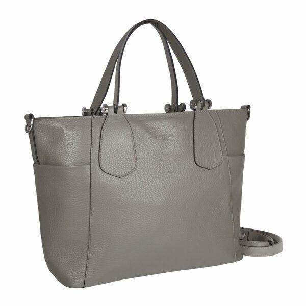 Стильная серая женская сумка через плечо BRL-47279