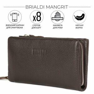 Неповторимый коричневый мужской портмоне клатч BRL-44380