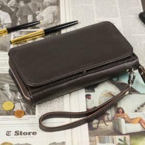 Деловой коричневый мужской портмоне клатч BRL-44374 229206