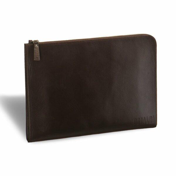 Стильная коричневая мужская папка BRL-3511