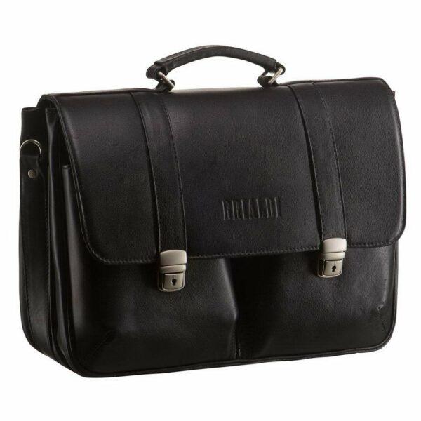 Стильный черный мужской портфель классический BRL-912