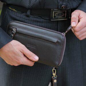 Деловой коричневый мужской портмоне клатч BRL-28618 228654