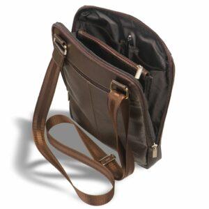Стильная коричневая мужская сумка через плечо BRL-12057