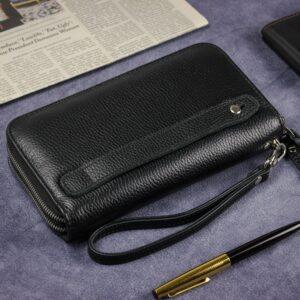 Модный черный мужской портмоне клатч BRL-43903 229096