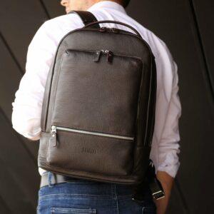 Неповторимый коричневый мужской деловой рюкзак BRL-45796 229267