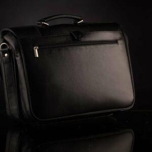 Стильный черный мужской портфель классический BRL-912 227499
