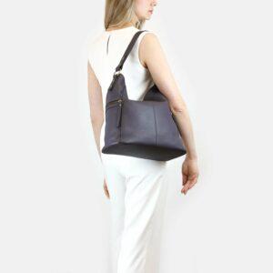 Вместительная фиолетовая женская сумка через плечо BRL-47455 229860