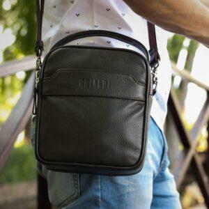 Удобная коричневая мужская сумка через плечо BRL-34400 228945
