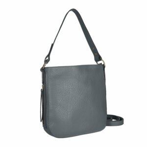 Вместительная серая женская сумка через плечо BRL-47549