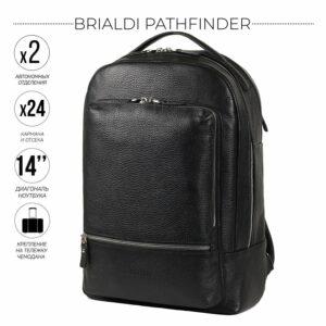 Удобный черный мужской деловой рюкзак BRL-45818