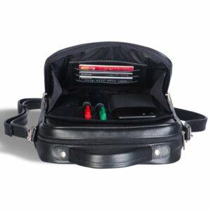 Удобная черная мужская сумка через плечо BRL-12935 227906