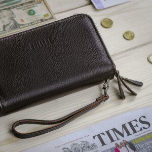 Удобный коричневый мужской портмоне клатч BRL-23059 228252