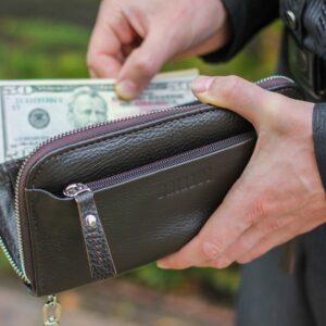 Кожаный коричневый мужской портмоне клатч BRL-28614 228616