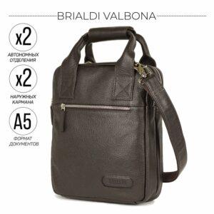 Функциональная коричневая мужская сумка через плечо BRL-13000